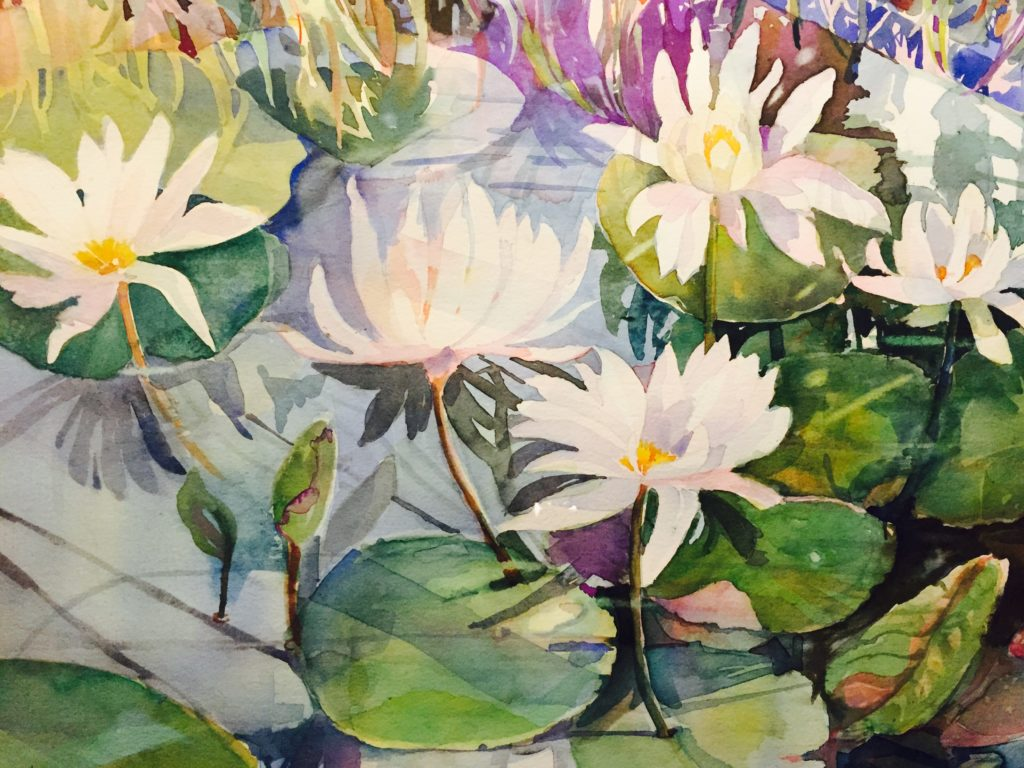 "Waterlilies / 27"" x 28"""