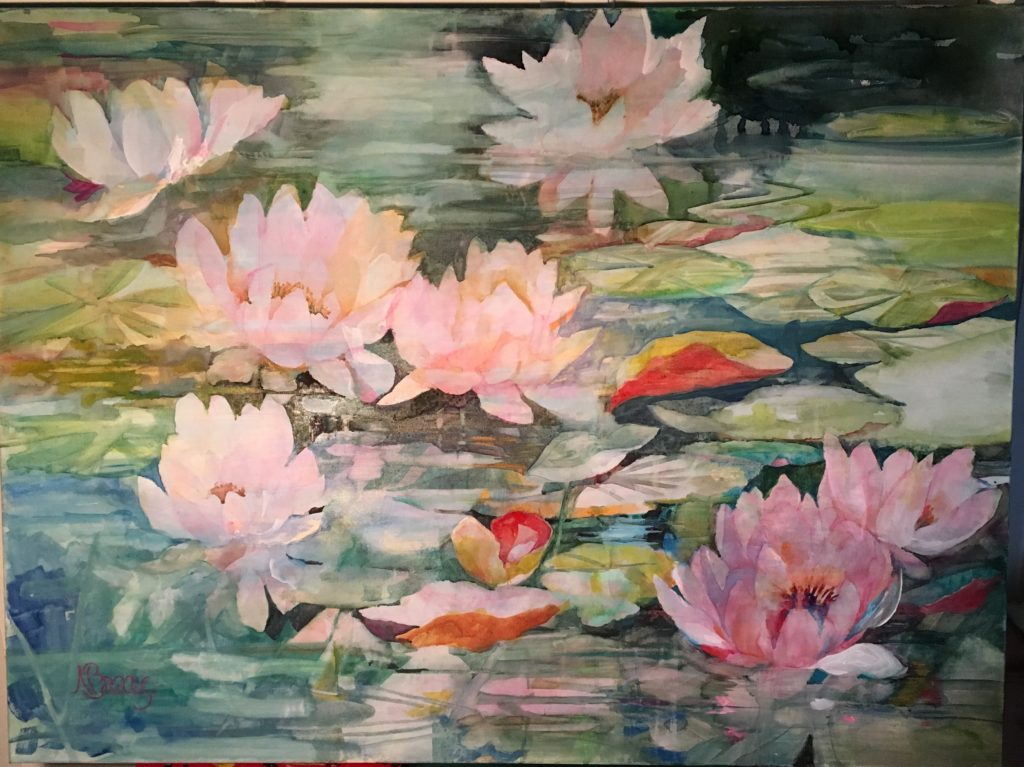 "Waterlilies / 30"" x 40"""