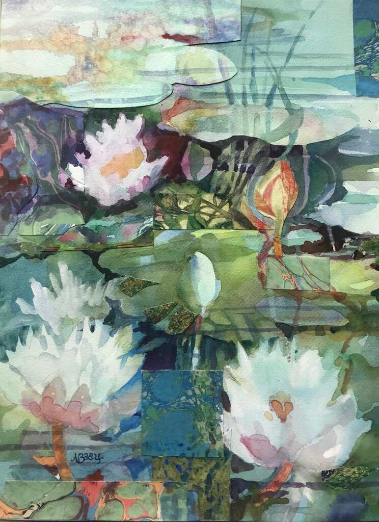 "Water Lilies / 12"" x 16"""